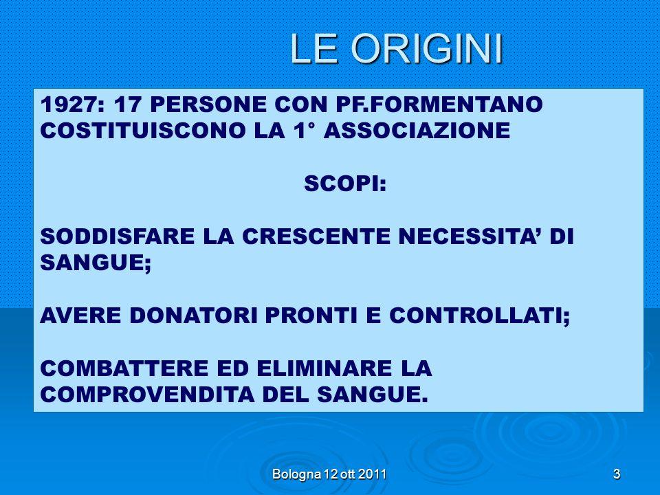 Bologna 12 ott 201133 RIORGANIZZAZIONE 98-99 Rendere più efficace ed efficiente il modello organizzativo per svolgere il proprio ruolo nella nostra società AVIS Comunale ha i donatori, ruolo centrale di proselitismo….