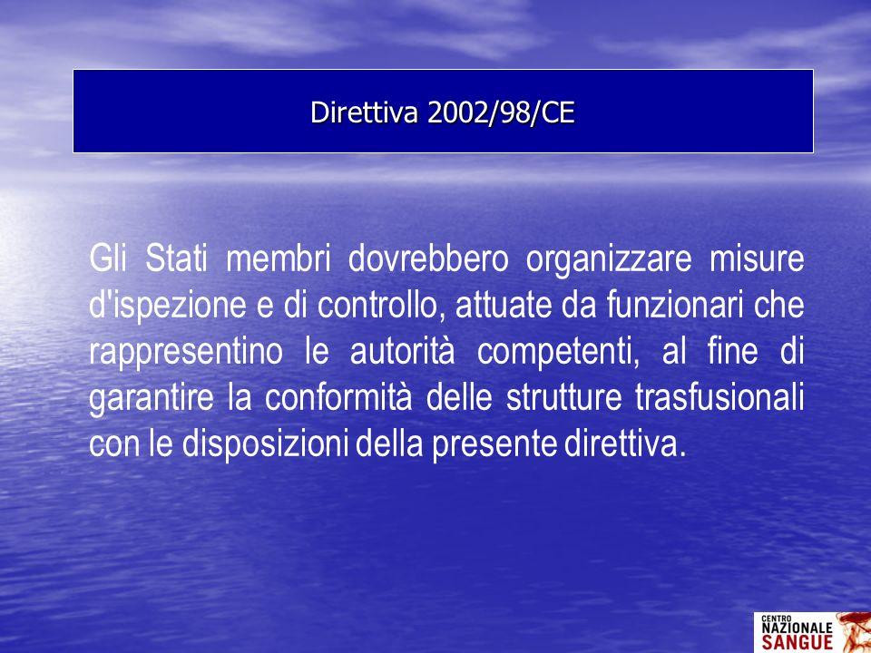 Gli Stati membri dovrebbero organizzare misure d'ispezione e di controllo, attuate da funzionari che rappresentino le autorità competenti, al fine di