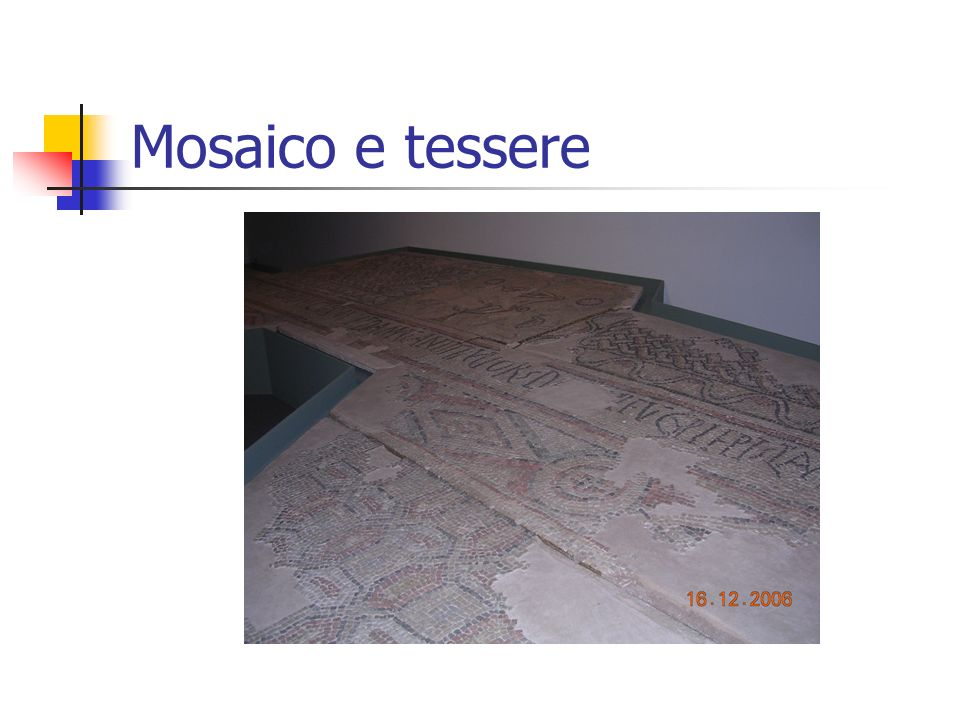 Mosaico e tessere