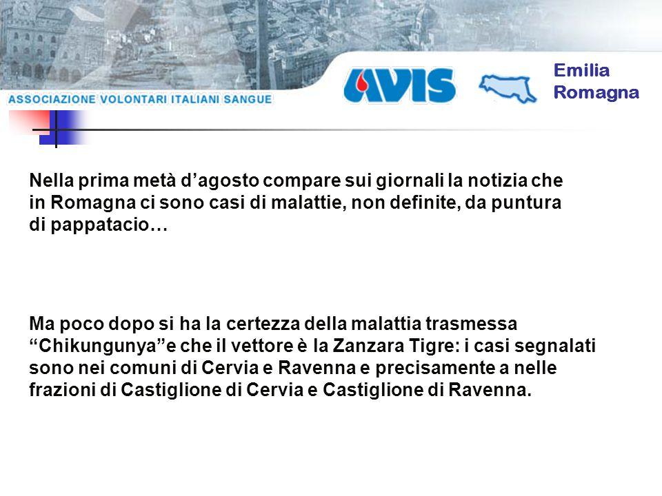 Nella prima metà dagosto compare sui giornali la notizia che in Romagna ci sono casi di malattie, non definite, da puntura di pappatacio… Ma poco dopo