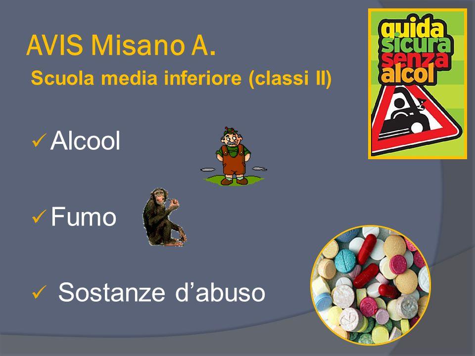AVIS Misano A. Scuola media inferiore (classi II) Alcool Fumo Sostanze dabuso