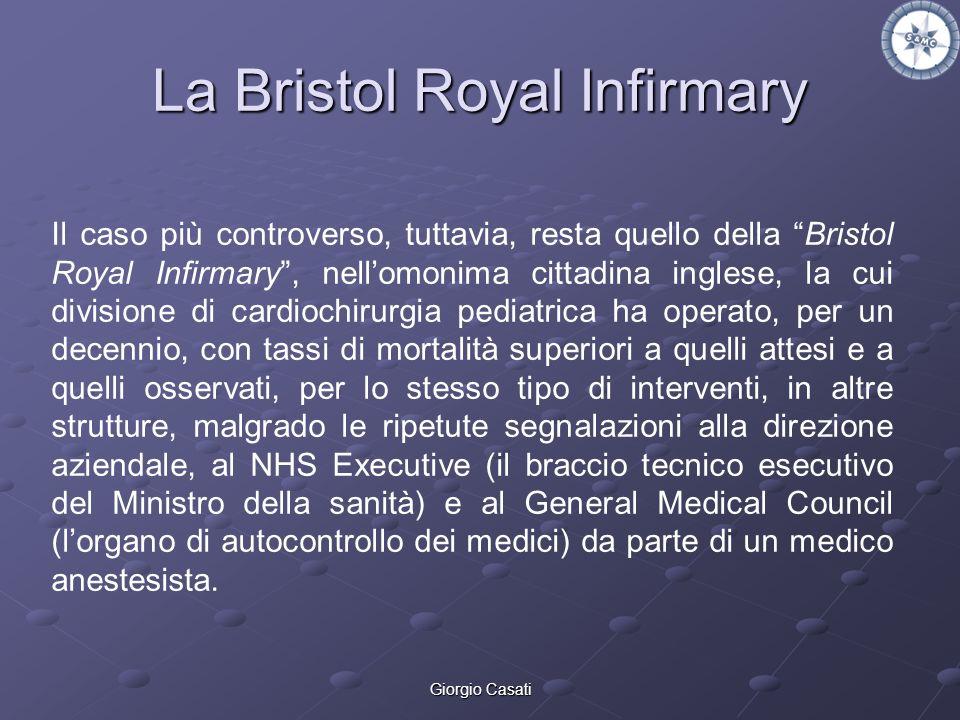 Giorgio Casati La Bristol Royal Infirmary Il caso più controverso, tuttavia, resta quello della Bristol Royal Infirmary, nellomonima cittadina inglese