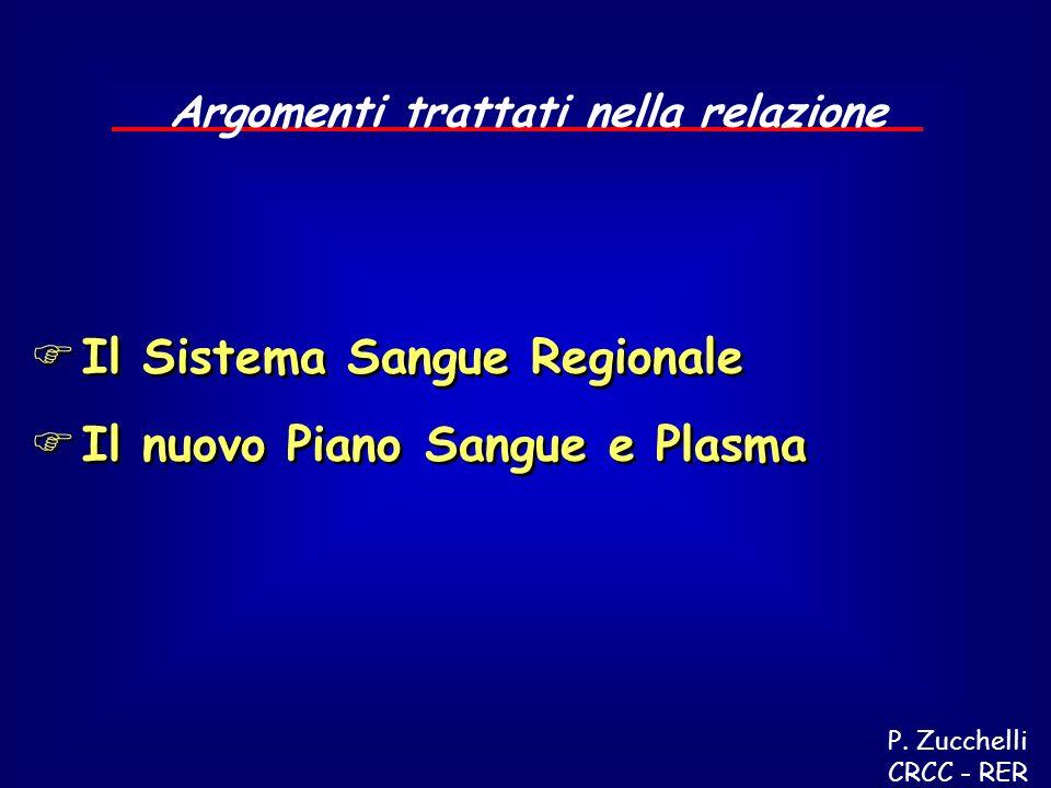 Il Sistema Sangue Regionale Il nuovo Piano Sangue e Plasma Il Sistema Sangue Regionale Il nuovo Piano Sangue e Plasma Argomenti trattati nella relazione P.