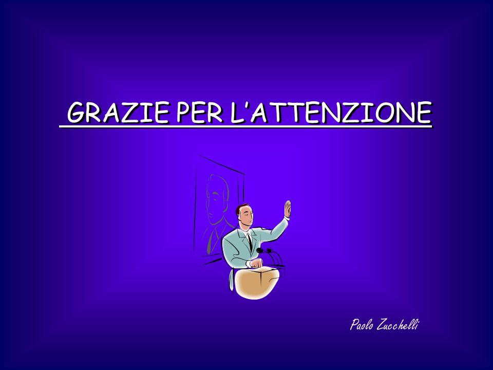 GRAZIE PER LATTENZIONE Paolo Zucchelli