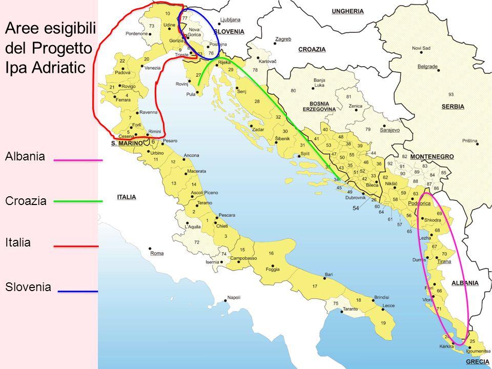 Aree esigibili del Progetto Ipa Adriatic Albania Croazia Italia Slovenia