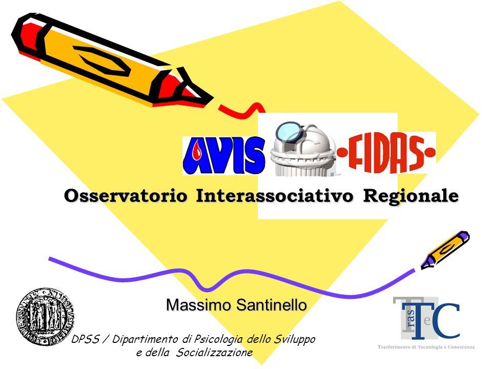 Massimo Santinello Osservatorio Interassociativo Regionale DPSS / Dipartimento di Psicologia dello Sviluppo e della Socializzazione