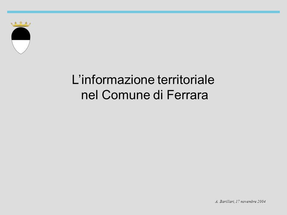 Linformazione territoriale nel Comune di Ferrara A. Barillari, 17 novembre 2004