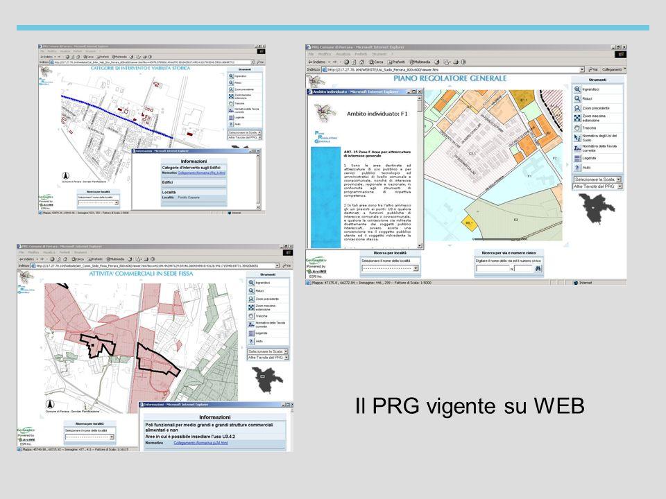 Il PRG vigente su WEB