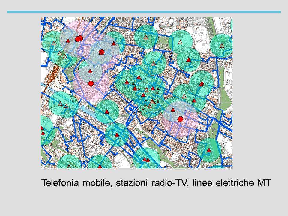 Telefonia mobile, stazioni radio-TV, linee elettriche MT