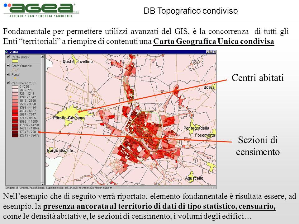 Fondamentale per permettere utilizzi avanzati del GIS, è la concorrenza di tutti gli Enti territoriali a riempire di contenuti una Carta Geografica Un