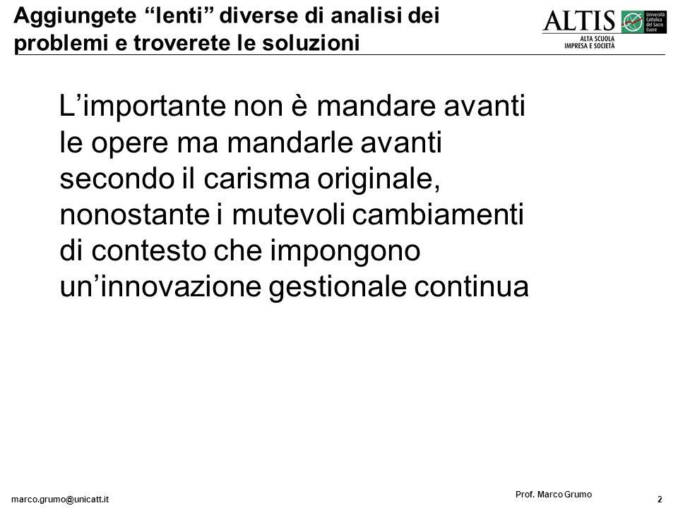 marco.grumo@unicatt.it3 Prof.Marco Grumo Il problema vero…..