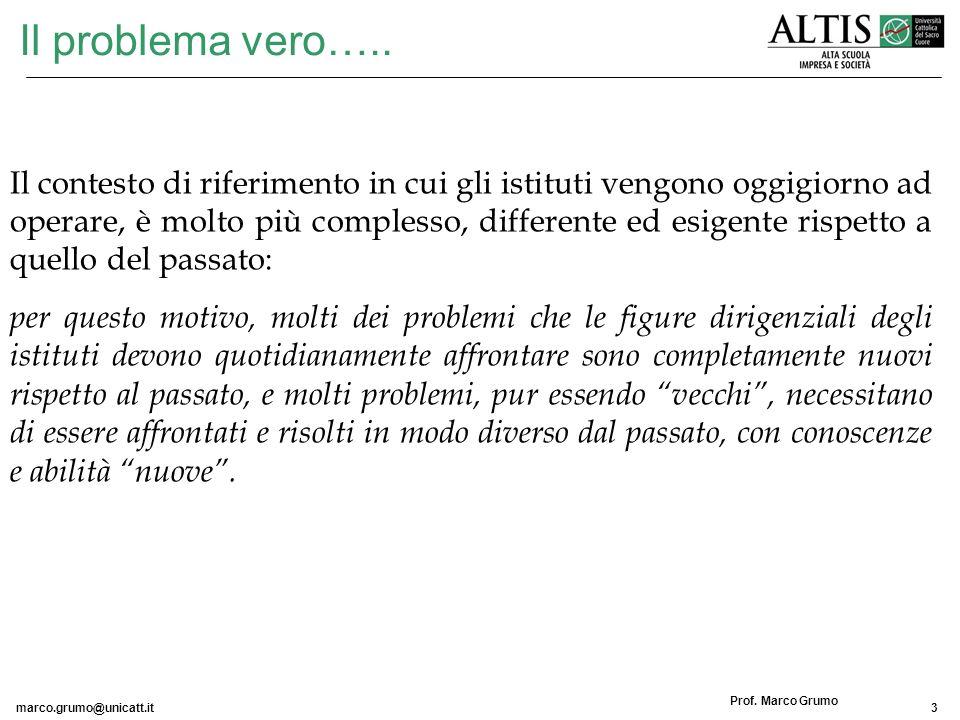marco.grumo@unicatt.it14 Prof.