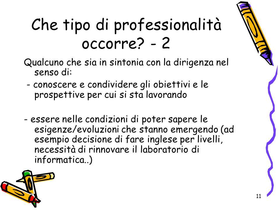 11 Che tipo di professionalità occorre.