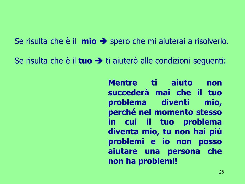 28 Se risulta che è il mio spero che mi aiuterai a risolverlo. Se risulta che è il tuo ti aiuterò alle condizioni seguenti: Mentre ti aiuto non succed