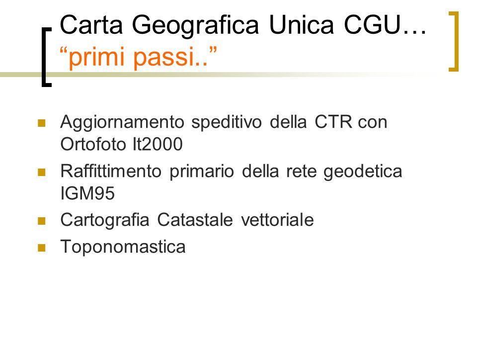 Aggiornamento della CTR Tutta la Provincia..Inserimento nuova viabilità ed idrografia..