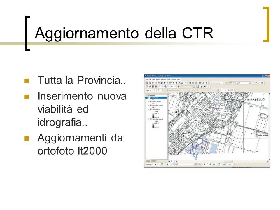Raffittimento primario della rete geodetica IGM95 Con punti noti ogni 7 km 80 vertici distribuiti sul territorio ferrarese 15 vertici preesistenti IGM 95 10 vertici preesistenti ARPA 55 vertici di nuova istituzione