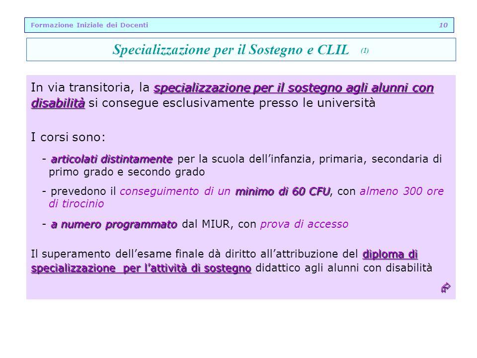 specializzazione per il sostegno agli alunni con In via transitoria, la specializzazione per il sostegno agli alunni con disabilità disabilità si cons