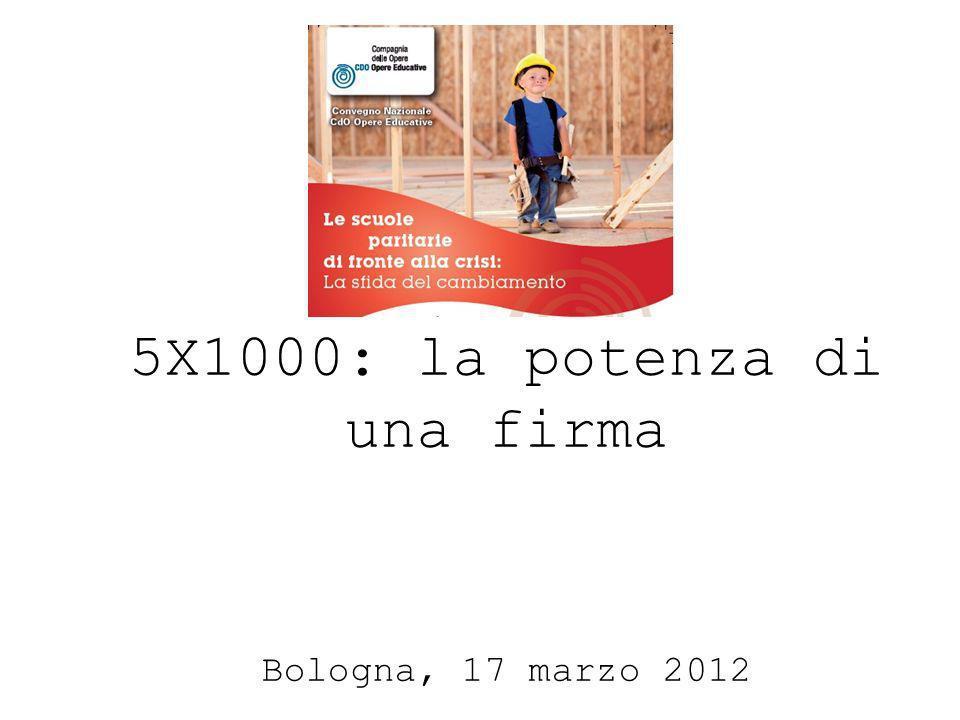 5X1000: la potenza di una firma Bologna, 17 marzo 2012
