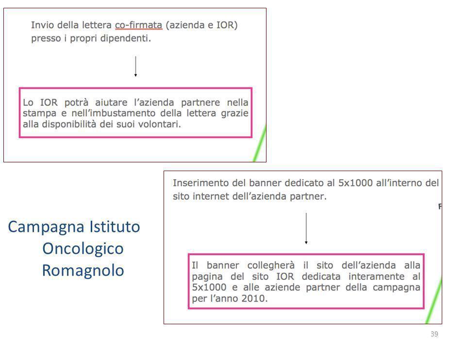 39 Campagna Istituto Oncologico Romagnolo