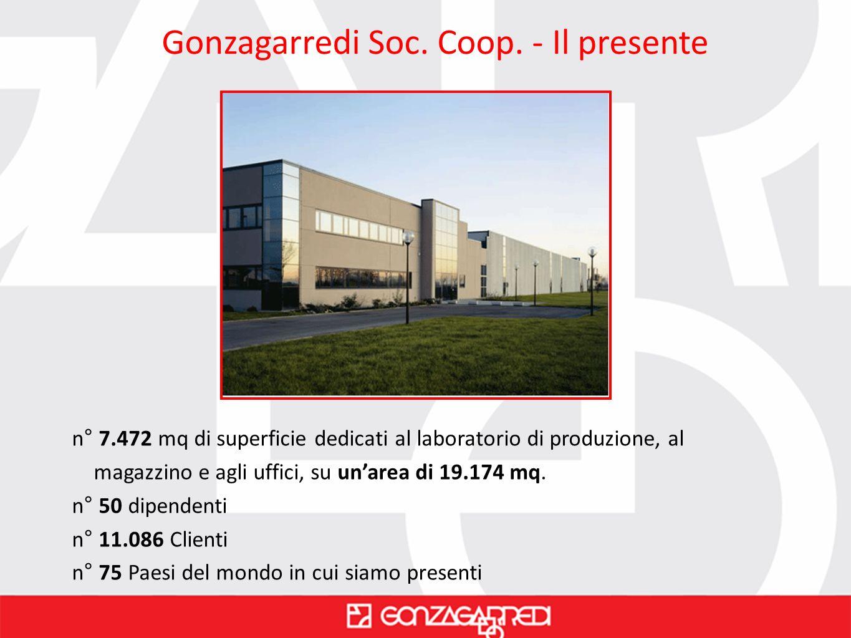 Gonzagarredi Soc. Coop. - Il presente n° 7.472 mq di superficie dedicati al laboratorio di produzione, al magazzino e agli uffici, su unarea di 19.174