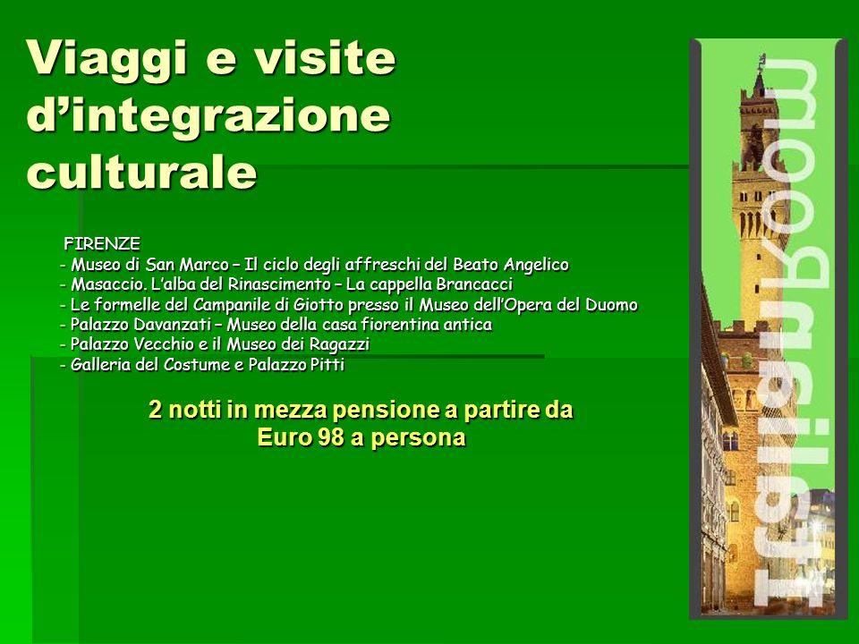 Viaggi e visite dintegrazione culturale FIRENZE FIRENZE - Museo di San Marco – Il ciclo degli affreschi del Beato Angelico - Masaccio.