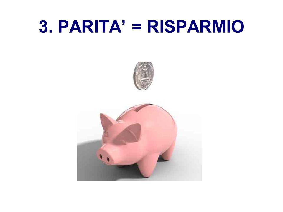 3. PARITA = RISPARMIO