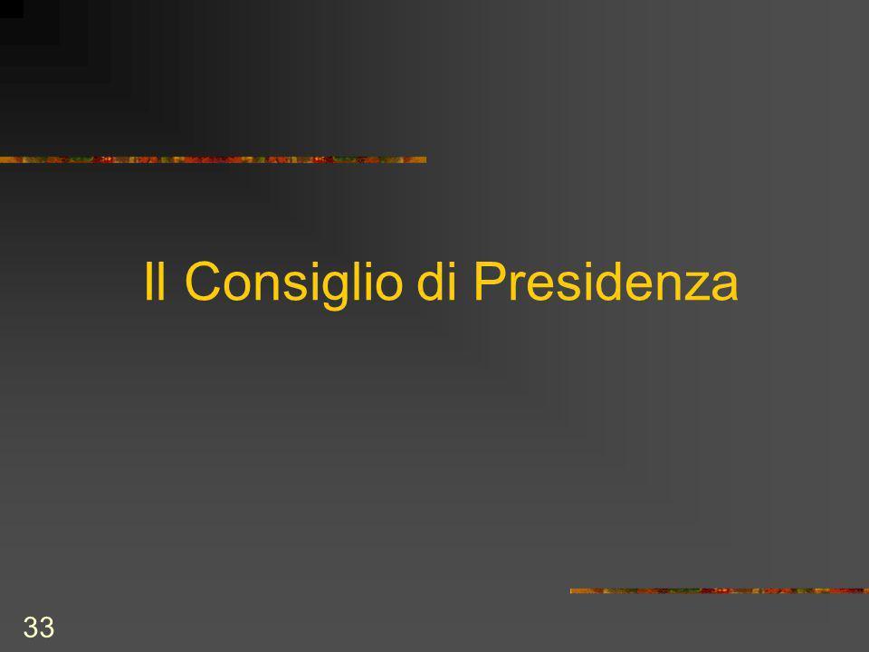 33 Il Consiglio di Presidenza
