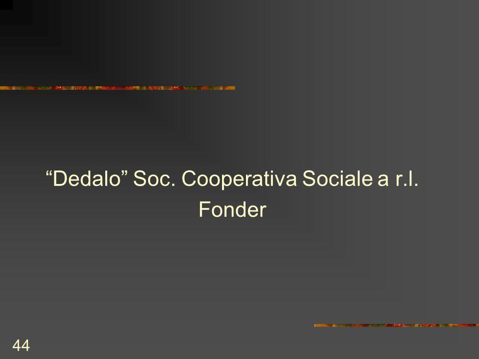 44 Dedalo Soc. Cooperativa Sociale a r.l. Fonder