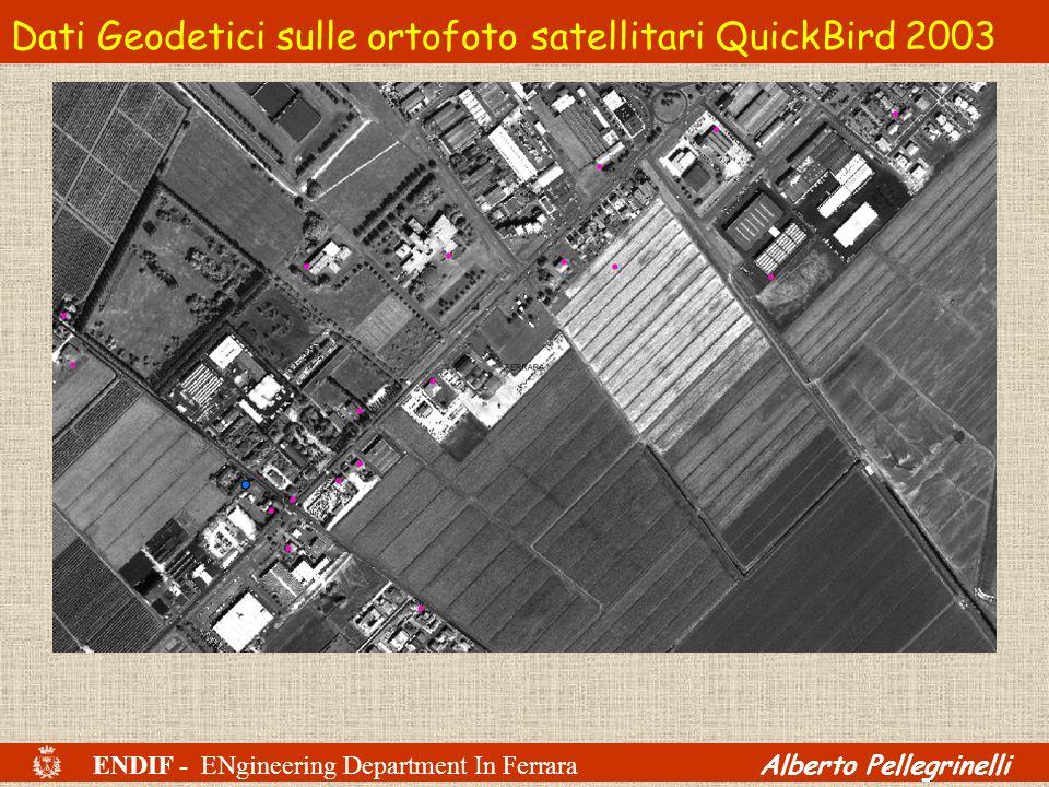 ENDIF - ENgineering Department In Ferrara Alberto Pellegrinelli Dati Geodetici sulle ortofoto satellitari QuickBird 2003