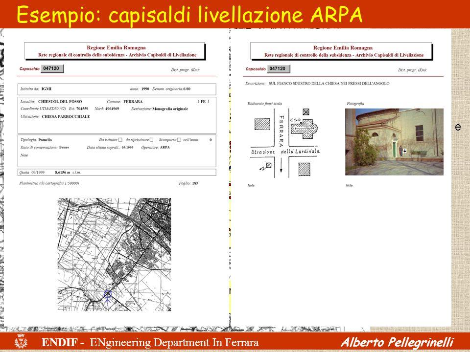 Rete di livellazione di alta precisione; riferita a caposaldi IGM sullAppennino bolognese; rilievo eseguito nel 1999 e solo in parte ripetuto nel 2005
