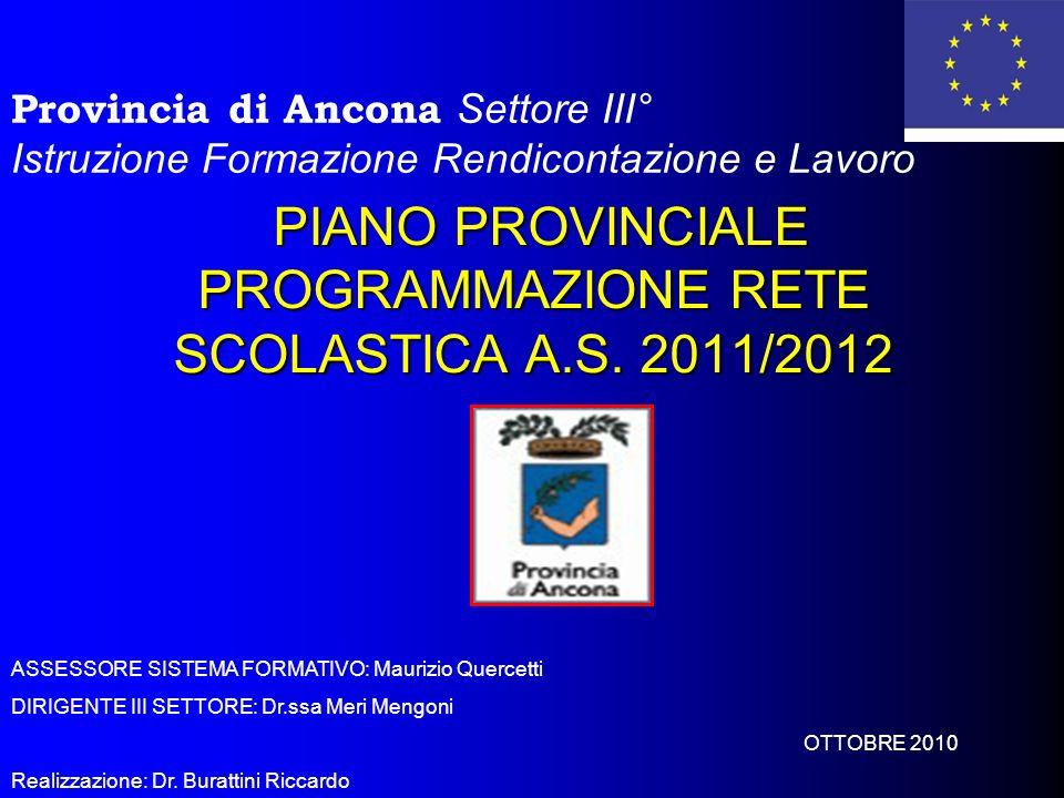 PIANO PROVINCIALE PROGRAMMAZIONE RETE SCOLASTICA A.S.