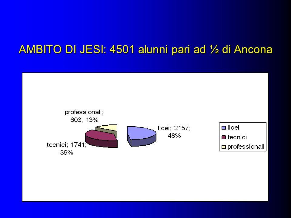AMBITO DI JESI: 4501 alunni pari ad ½ di Ancona