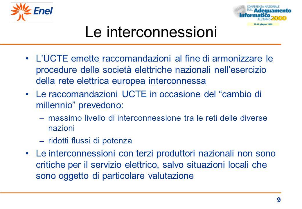 8 I sistemi critici (cont.) nelle Telecomunicazioni: –10.500 apparati di telecomunicazione della rete di supporto al telecontrollo e alla telegestione