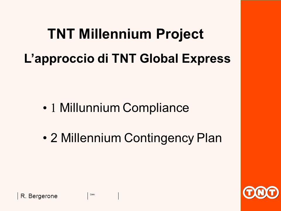 Date: R. Bergerone TNT Millennium Project 1 Millunnium Compliance 2 Millennium Contingency Plan Lapproccio di TNT Global Express