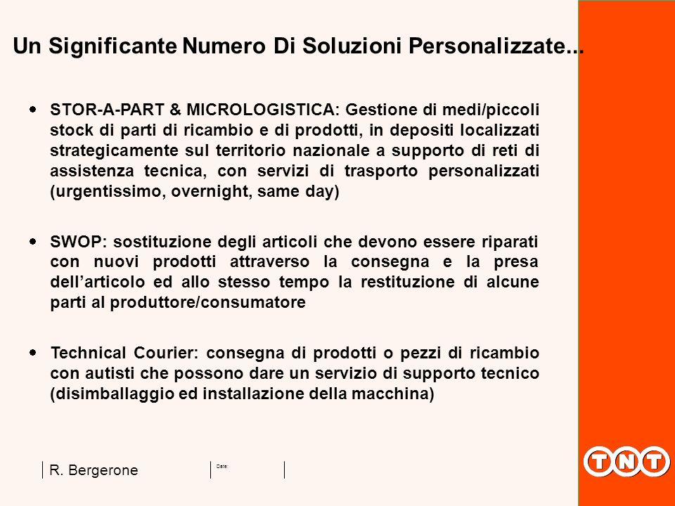 Date: R. Bergerone STOR-A-PART & MICROLOGISTICA: Gestione di medi/piccoli stock di parti di ricambio e di prodotti, in depositi localizzati strategica