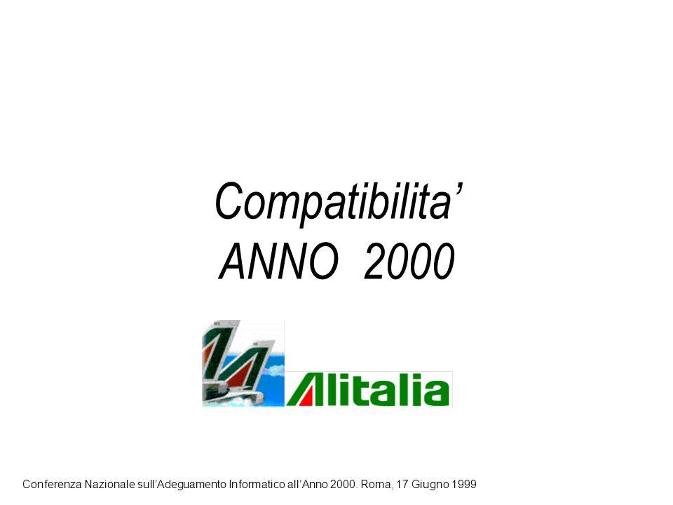 Compatibilita ANNO 2000 Conferenza Nazionale sullAdeguamento Informatico allAnno 2000.