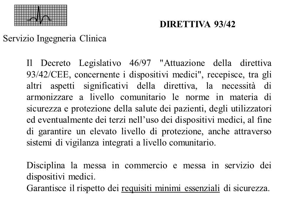 DIRETTIVA 93/42 Il Decreto Legislativo 46/97