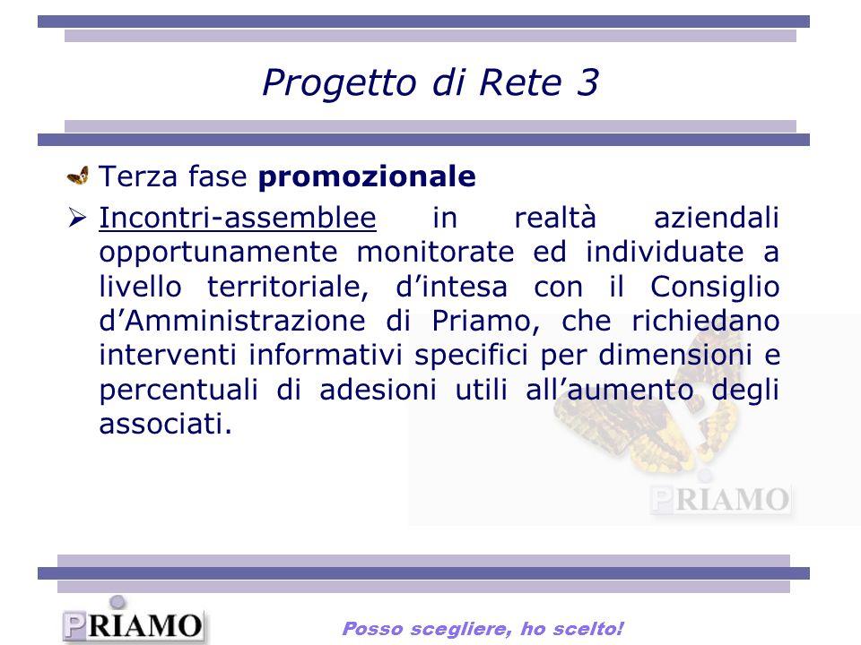 Progetto di Rete 3 Terza fase promozionale Incontri-assemblee in realtà aziendali opportunamente monitorate ed individuate a livello territoriale, din