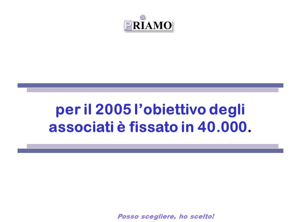 FONDO PENSIONE COMPLEMENTARE per il 2005 lobiettivo degli associati è fissato in 40.000.