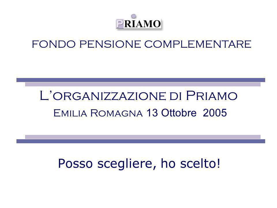 FONDO PENSIONE COMPLEMENTARE Lorganizzazione di Priamo Emilia Romagna 13 Ottobre 2005 Posso scegliere, ho scelto!