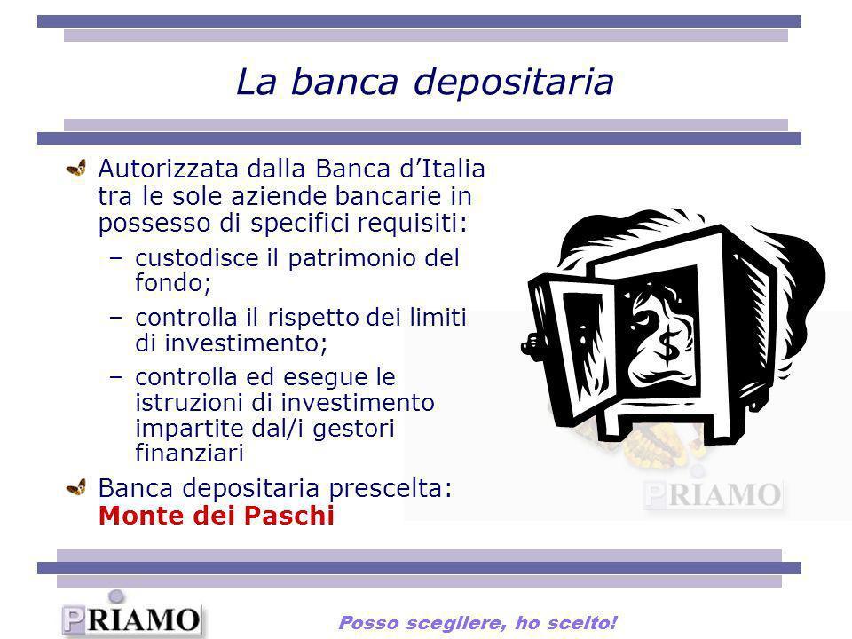 La banca depositaria Autorizzata dalla Banca dItalia tra le sole aziende bancarie in possesso di specifici requisiti: –custodisce il patrimonio del fo