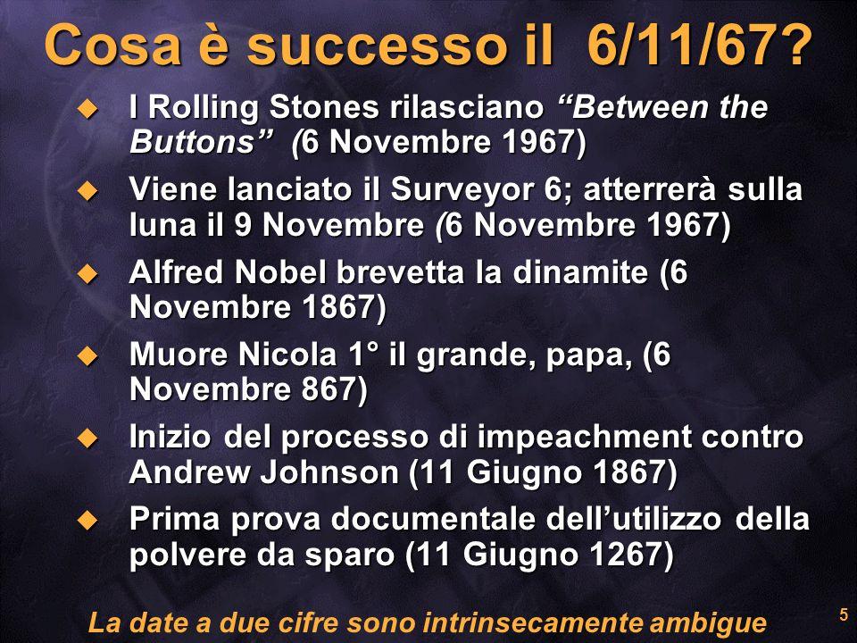 5 Cosa è successo il 6/11/67? I Rolling Stones rilasciano Between the Buttons (6 Novembre 1967) I Rolling Stones rilasciano Between the Buttons (6 Nov