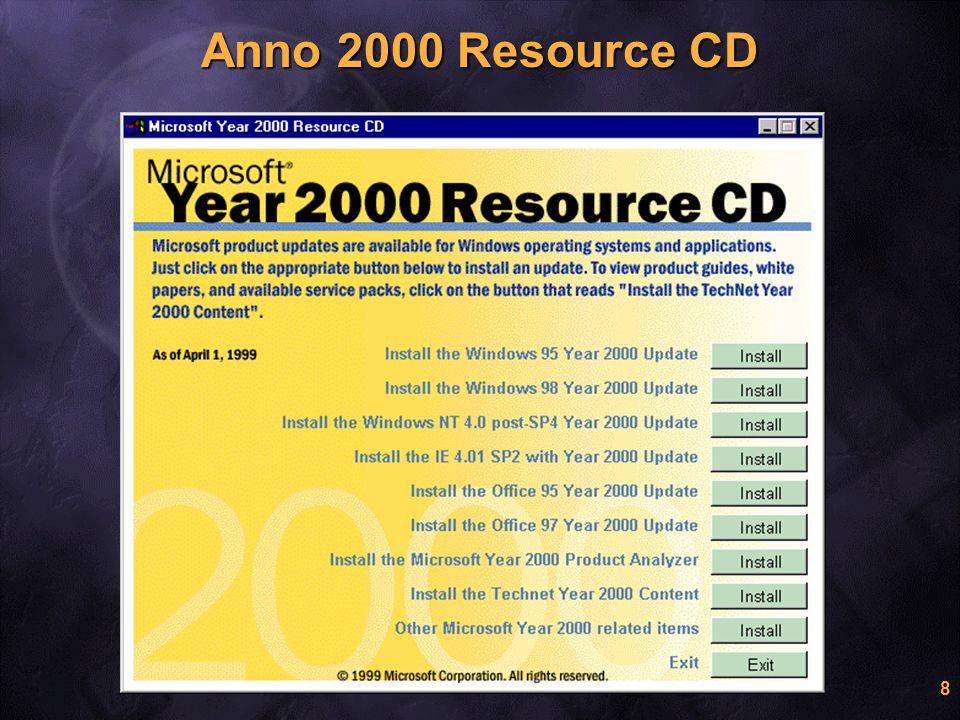 9 Year 2000 Classifications Conforme Conforme * Con azioni raccomandate # Con deviazioni accettabili + In corso di aggiornamento Non Conforme Non Conforme