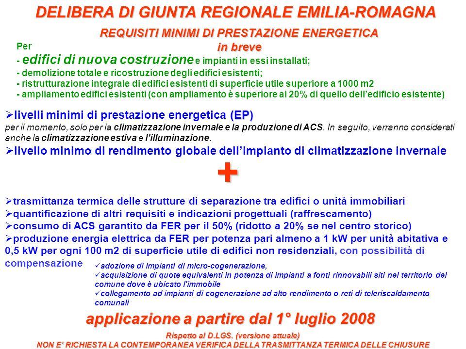(EP) livelli minimi di prestazione energetica (EP) per il momento, solo per la climatizzazione invernale e la produzione di ACS. In seguito, verranno