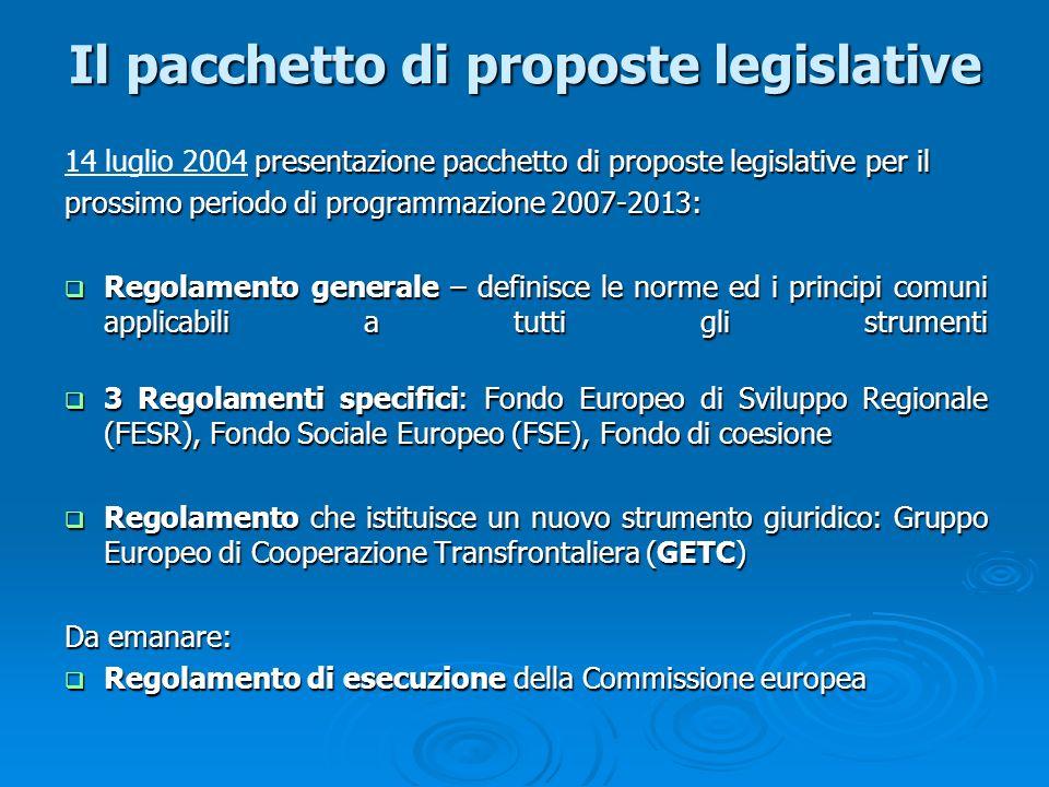 Il pacchetto di proposte legislative presentazione pacchetto di proposte legislative per il 14 luglio 2004 presentazione pacchetto di proposte legisla