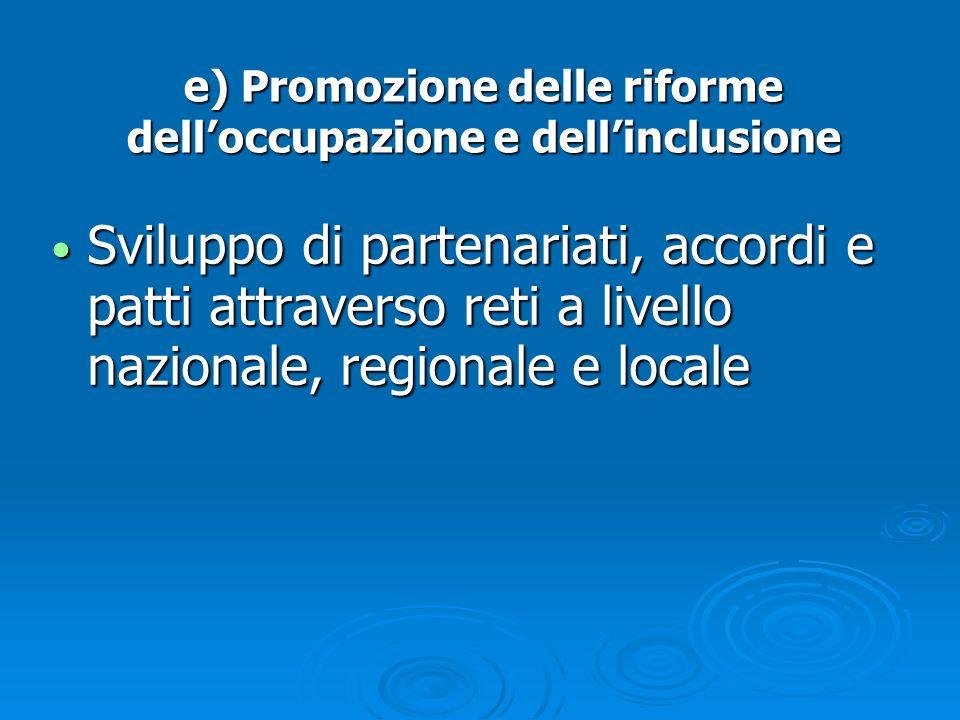 Sviluppo di partenariati, accordi e patti attraverso reti a livello nazionale, regionale e locale Sviluppo di partenariati, accordi e patti attraverso