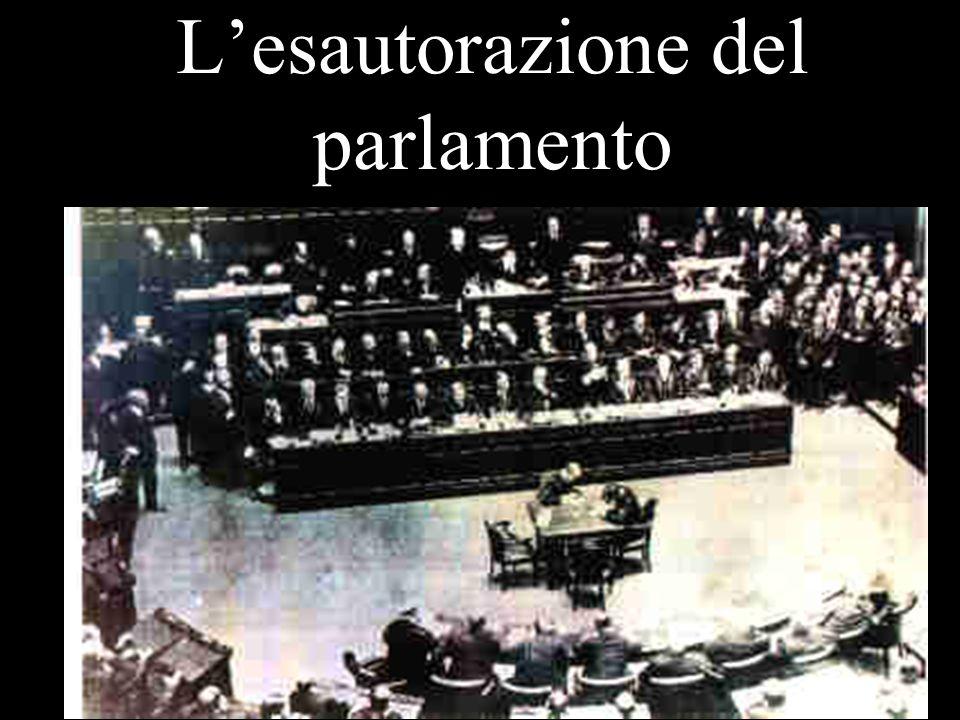 Lesautorazione del parlamento