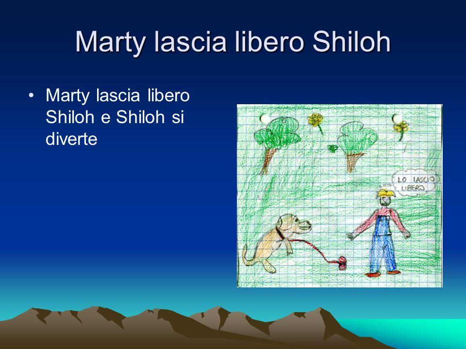 Marty lascia libero Shiloh Marty lascia libero Shiloh e Shiloh si diverte