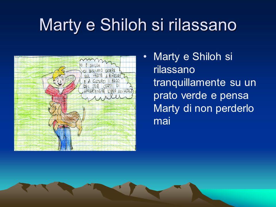 Marty e Shiloh si rilassano Marty e Shiloh si rilassano tranquillamente su un prato verde e pensa Marty di non perderlo mai