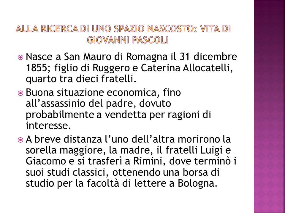 Nasce a San Mauro di Romagna il 31 dicembre 1855; figlio di Ruggero e Caterina Allocatelli, quarto tra dieci fratelli. Buona situazione economica, fin